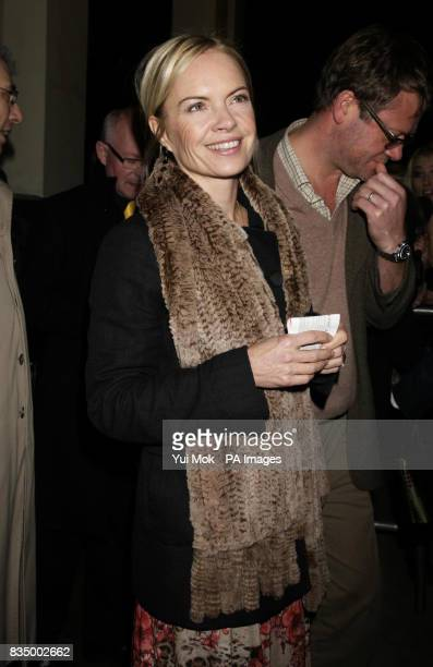 Mariella Frostrup arriving for the first night of the musical 'Oliver' at the Theatre Royal in Drury Lane central London
