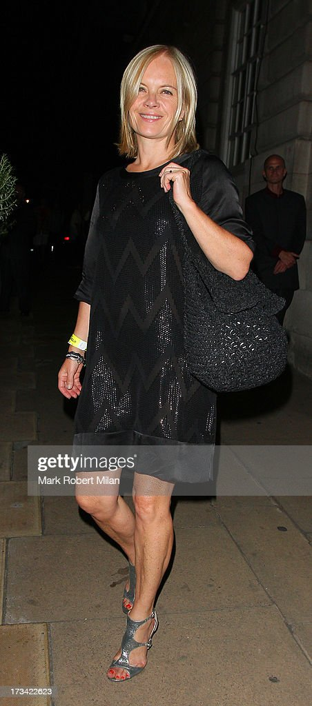 Mariella Frostrup at Lou Lou's club on July 13, 2013 in London, England.