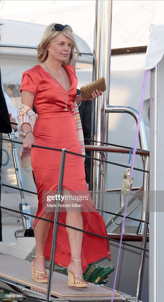 Mariella Frostrup attending the Johnnie Walker yacht party at The 66th Annual Cannes Film Festival on May 17, 2013 in Cannes, France.