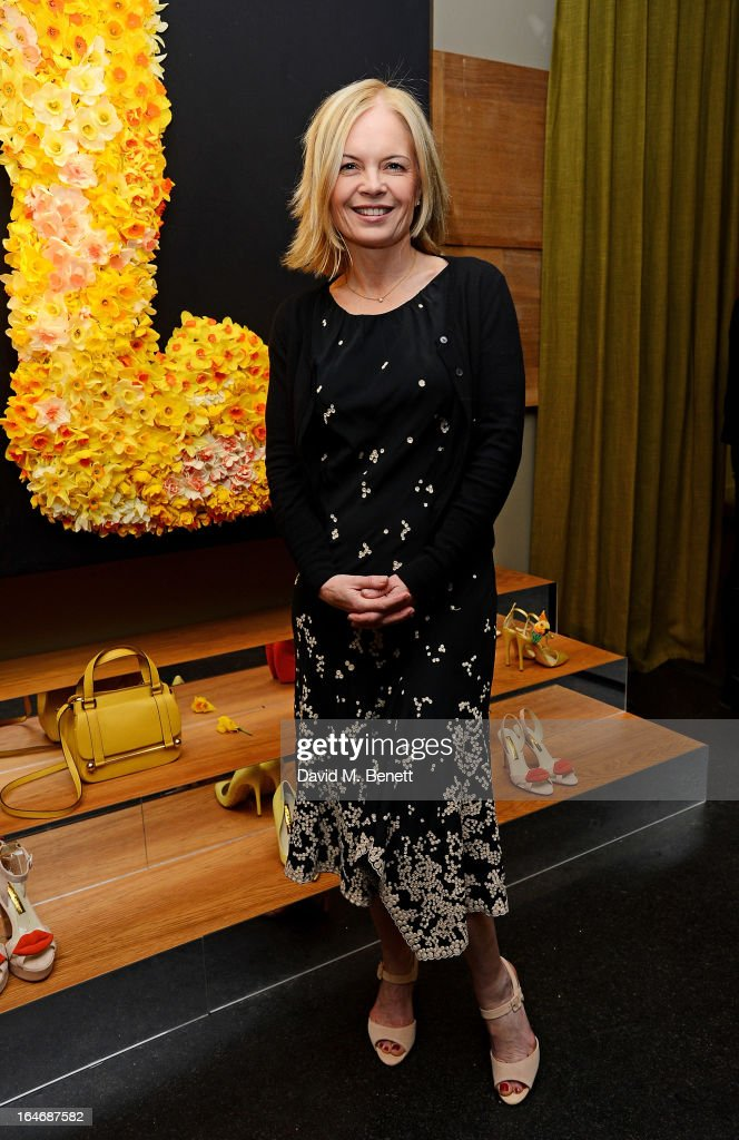 Mariella Frostrup attends a cocktail party for shoe designer Rupert Sanderson, hosted by Mariella Frostrup, at his Bruton Place store on March 26, 2013 in London, England.