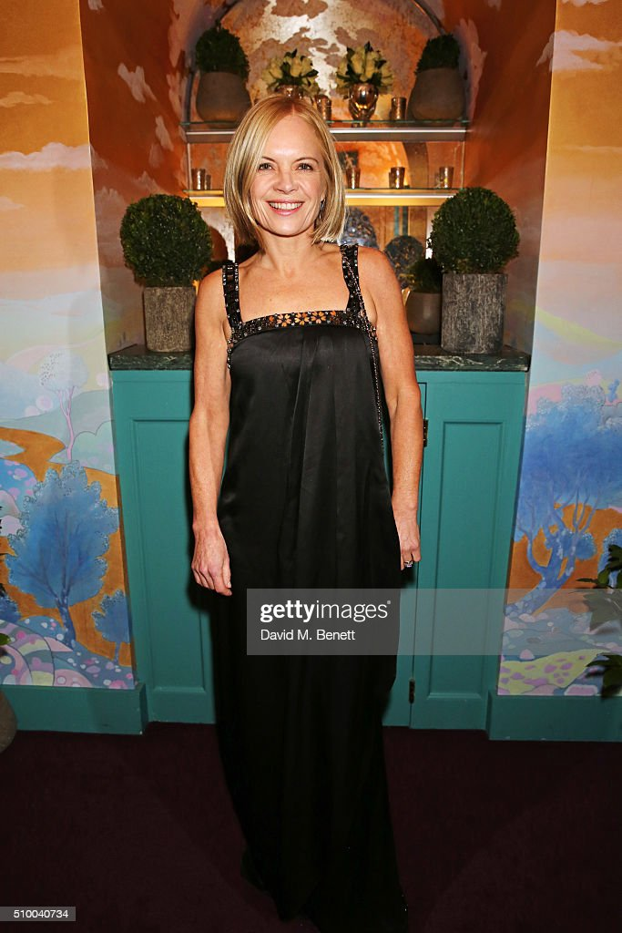 Mariella Frostrup attends the Charles Finch and Chanel Pre-BAFTA cocktail party and dinner at Annabel's on February 13, 2016 in London, England.