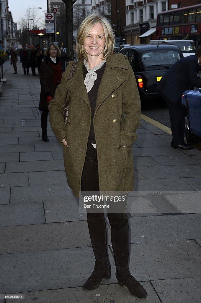 Mariella Frostrup attends the Smythson of Bond Street's afternoon tea party, celebrating the opening of their new Sloane Street store, on February 6, 2013 in London, England.