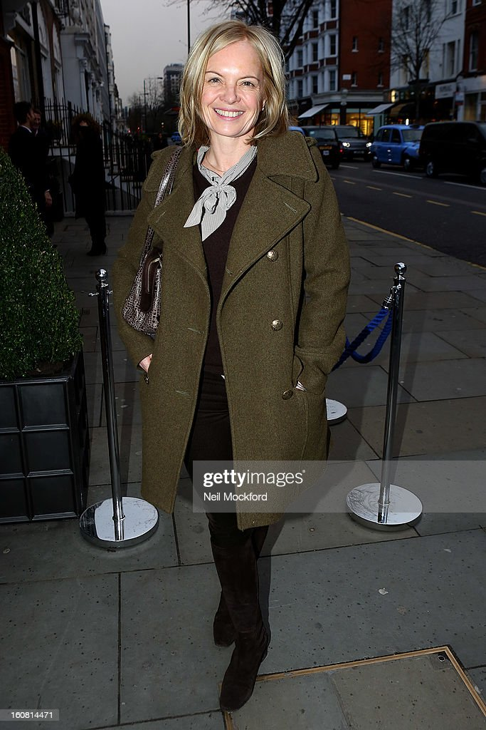 Mariella Frostrup attends the Smythson of Bond Street's afternoon tea party, celebrating the opening of their new Sloane Street store on February 6, 2013 in London, England.