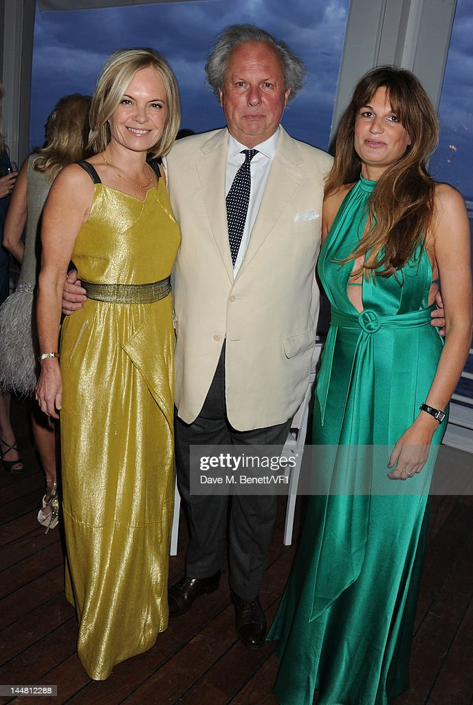 Mariella Frostrup, Editor of Vanity Fair Graydon Carter and writer Jemima Khan attends the Vanity Fair And Gucci Party during the 65th Annual Cannes Film Festival at Hotel Du Cap on May 19, 2012 in Antibes, France.