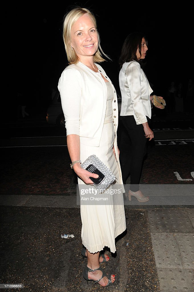 Mariella Frostrup sighting leaving the Serpentine Summer Party on June 26, 2013 in London, England.