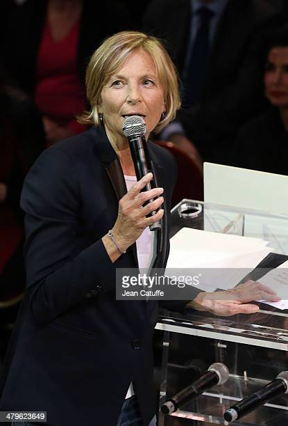 Marielle de Sarnez attends the last big meeting before the elections of Paris UMP mayoral candidate Nathalie KosciuskoMorizet aka NKM at Cirque...