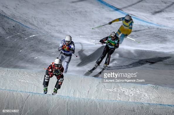 Marielle Thompson of Canada takes 1st place during the FIS Freestyle Ski World Cup Men's and Women's Ski Cross on December 13 2016 in Arosa...