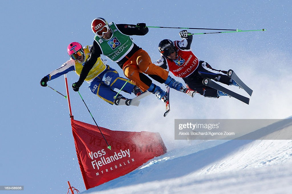Marielle Thompson of Canada takes 2nd place during the FIS Freestyle Ski World Championship Men's and Women's Ski Cross on March 10, 2013 in Voss, Norway.
