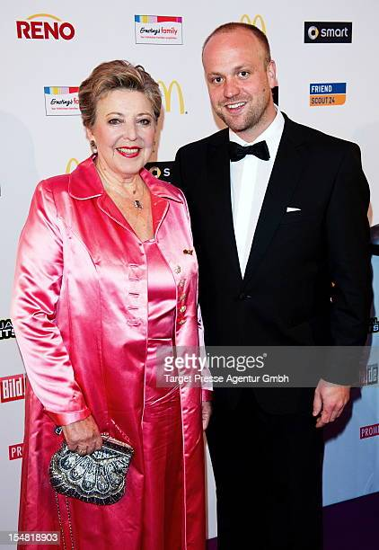 MarieLuise Marjan and Moritz A Sachs attend the German Soap Award 2012 at Kosmos Kino on October 26 2012 in Berlin Germany