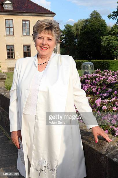 MarieLuise Marjan arrives for the gala dinner celebrating the 800th anniversary of the German region of Anhalt at Oranienbaum Castle on June 2 2012...