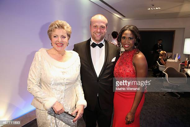 MarieLuise Marjan Moritz Sachs and Motsi Mabuse attend the Semper Opera Ball 2014 at Semperoper on February 7 2014 in Dresden Germany