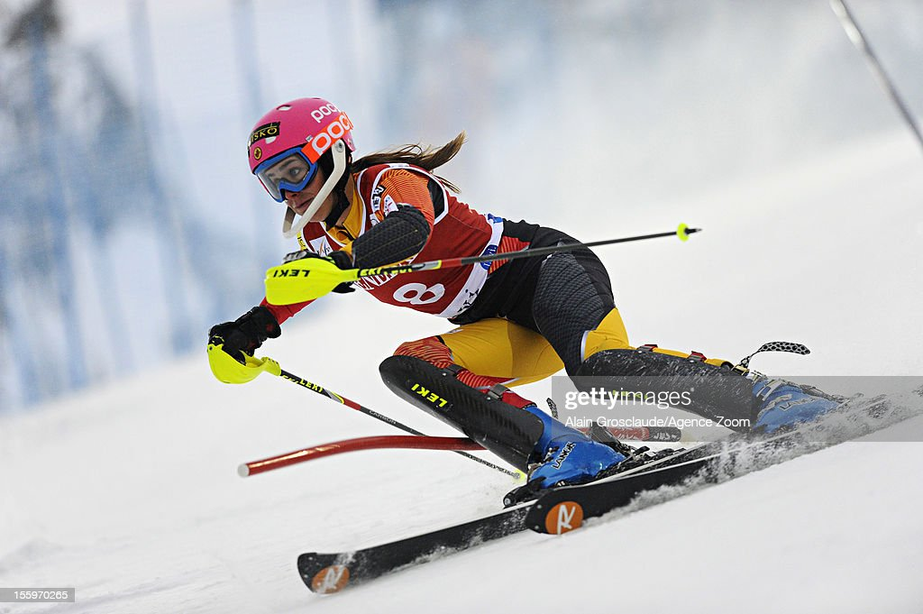 Marie-Michele Gagnon of Canada competes during the Audi FIS Alpine Ski World Cup Women's Slalom on November 10, 2012 in Levi, Finland.