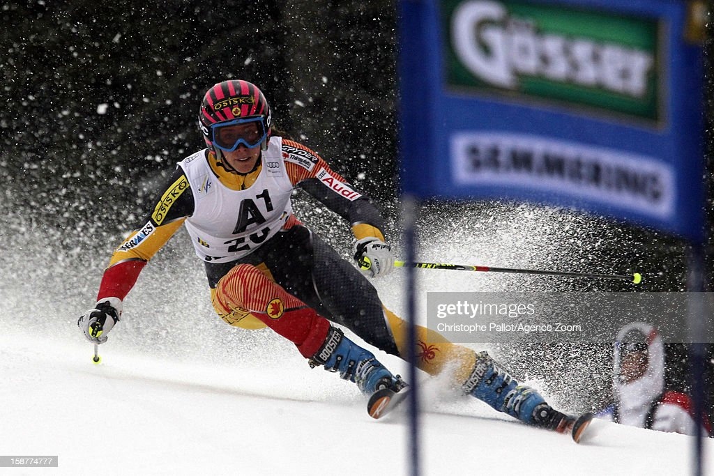 <a gi-track='captionPersonalityLinkClicked' href=/galleries/search?phrase=Marie-Michele+Gagnon&family=editorial&specificpeople=5679129 ng-click='$event.stopPropagation()'>Marie-Michele Gagnon</a> of Canada competes during the Audi FIS Alpine Ski World Cup Women's Giant Slalom on December 28, 2012 in Semmering, Austria.