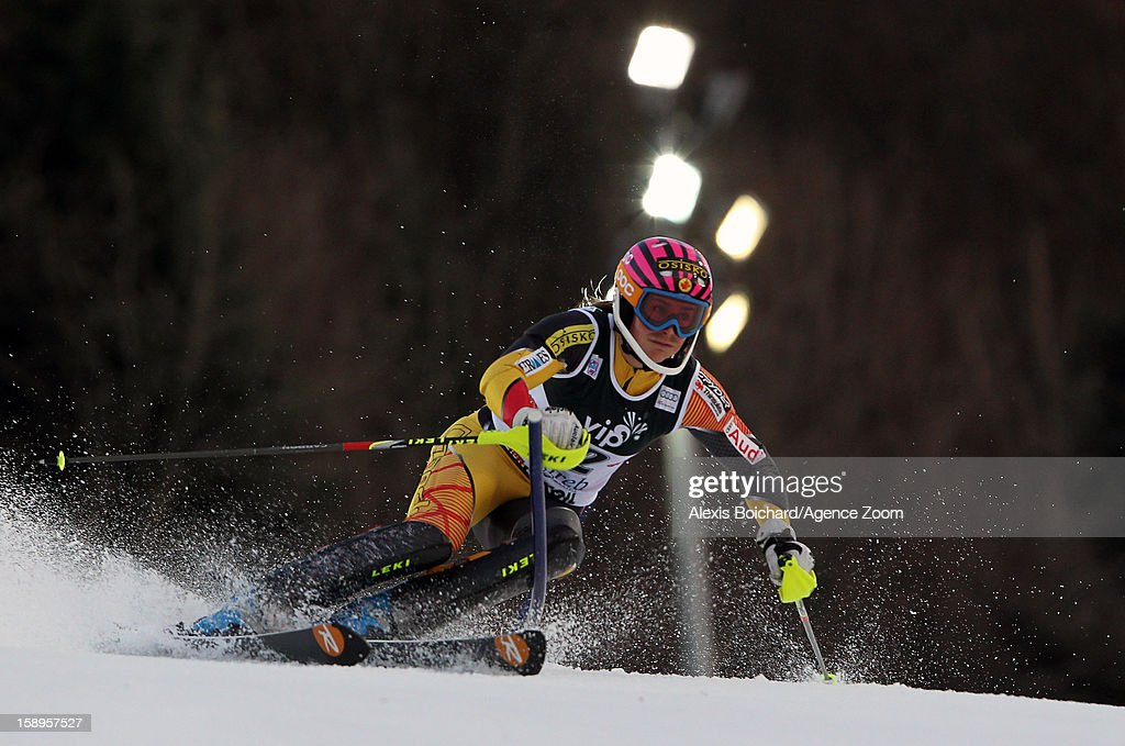 Marie-Michele Gagnon of Canada competes during the Audi FIS Alpine Ski World Cup Women's Slalom on January 4, 2013 in Zagreb, Croatia.
