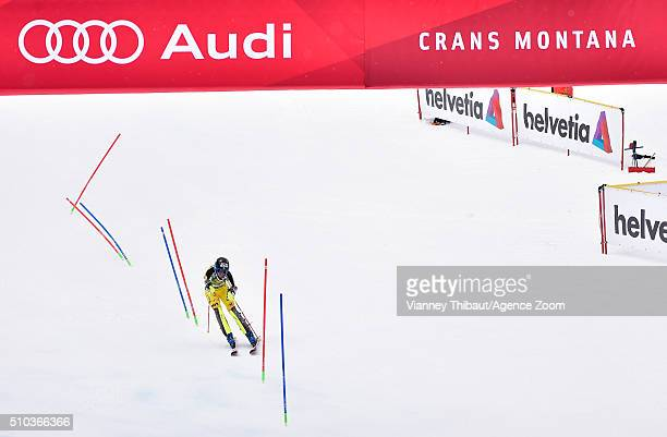 MarieMichele Gagnon of Canada competes during the Audi FIS Alpine Ski World Cup Women's Slalom on February 15 2016 in Crans Montana Switzerland