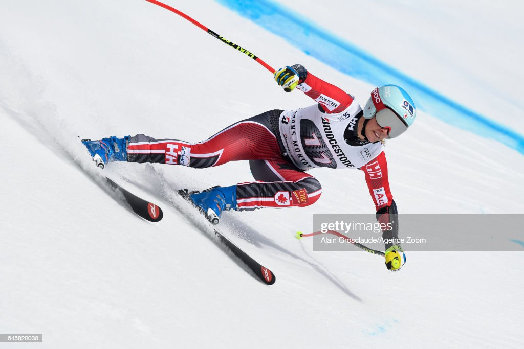 Marie-michele Gagnon of Canada competes during the Audi FIS Alpine Ski World Cup Women's Alpine Combined on February 26, 2017 in Crans Montana, Switzerland