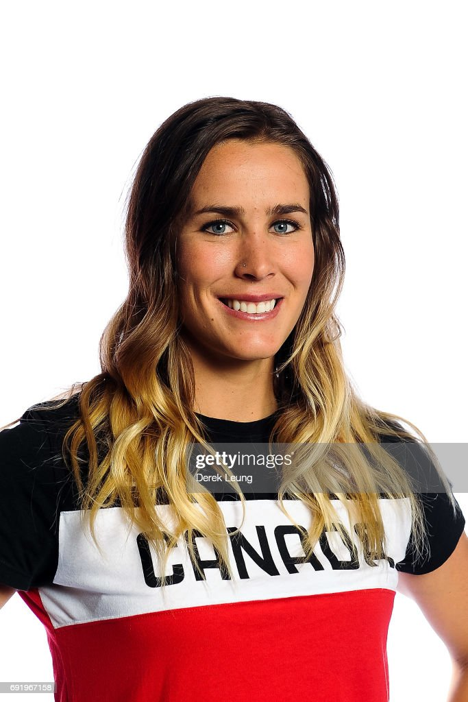 Marie-Michele Gagnon poses for a portrait during the Canadian Olympic Committee Portrait Shoot on June 3, 2017 in Calgary, Alberta, Canada.