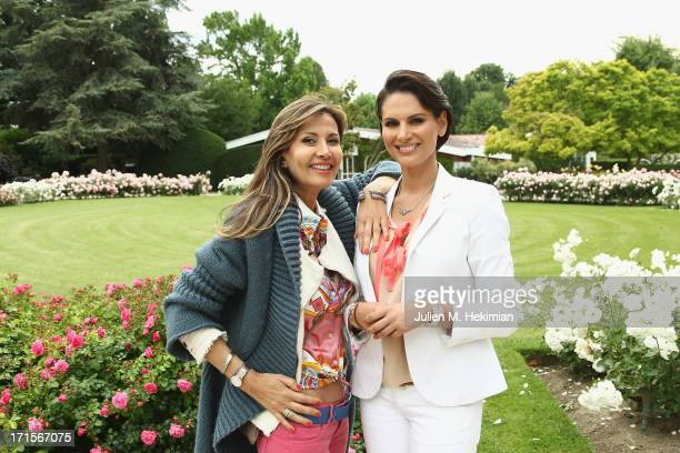 MarieOlga Bisenti Charriol poses with Miss France 2004 Laetitia Bleger during the Charriol Ladies Polo Cup for the benefit of Rose Magazine at Polo...
