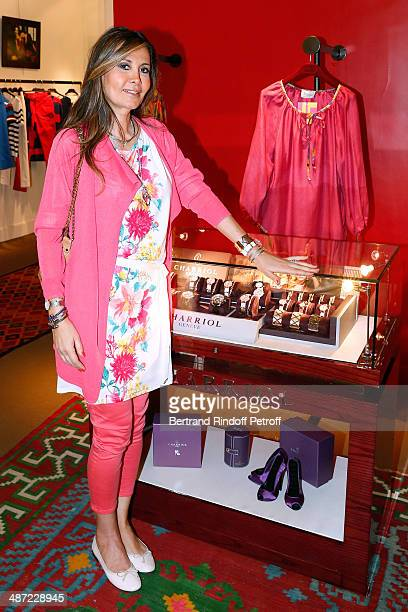 MarieOlga Charriol attends the 'Charriol' Ephemeral Boutique opening hosted by Nathalie Garcon at Nathalie Garcon store Galerie Vivienne on April 28...