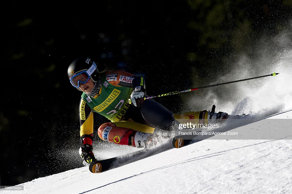 Marie-Pier Prefontaine of Canada competes during the Audi FIS Alpine Ski World Cup Women's Giant Slalom on November 24, 2012 in Aspen, Colorado.