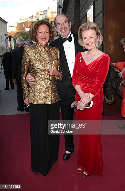 Marietta Andreae Wolfgang Bierlein Elisabeth Guertler attend the opening of the easter festival 2014 on April 12 2014 in Salzburg Austria