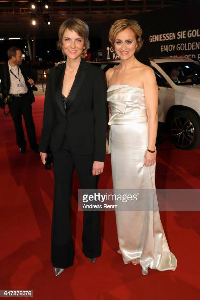 Marietta Slomka and Caren Miosga arrive for the Goldene Kamera on March 4 2017 in Hamburg Germany