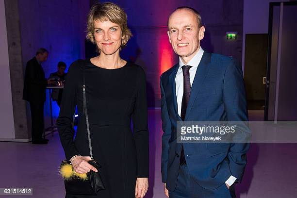 Marietta Slomka and Wolfgang Krach attend the 12th Long Night of the Sueddeutsche Zeitung at Palazzo Italia on January 11 2017 in Berlin Germany