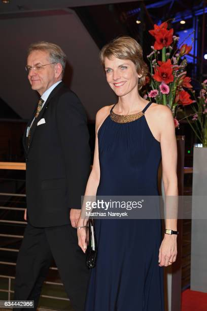 Marietta Slomka attends the 'Django' premiere during the 67th Berlinale International Film Festival Berlin at Berlinale Palace on February 9 2017 in...