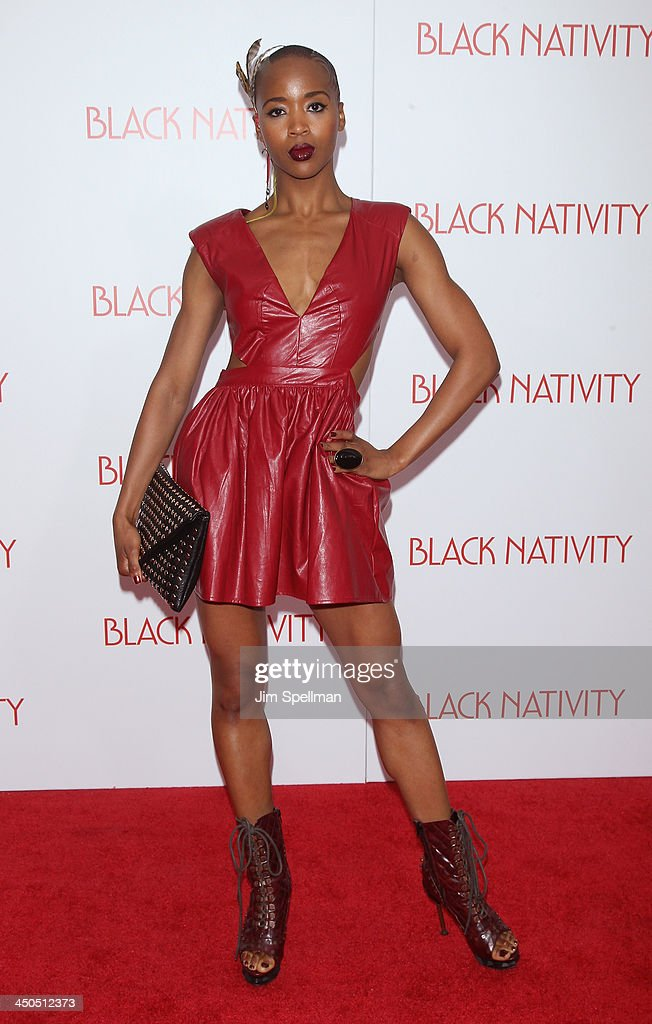 Marija Abney attends the 'Black Nativity' premiere at The Apollo Theater on November 18, 2013 in New York City.
