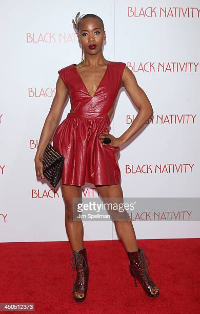 Marija Abney attends the 'Black Nativity' premiere at The Apollo Theater on November 18 2013 in New York City