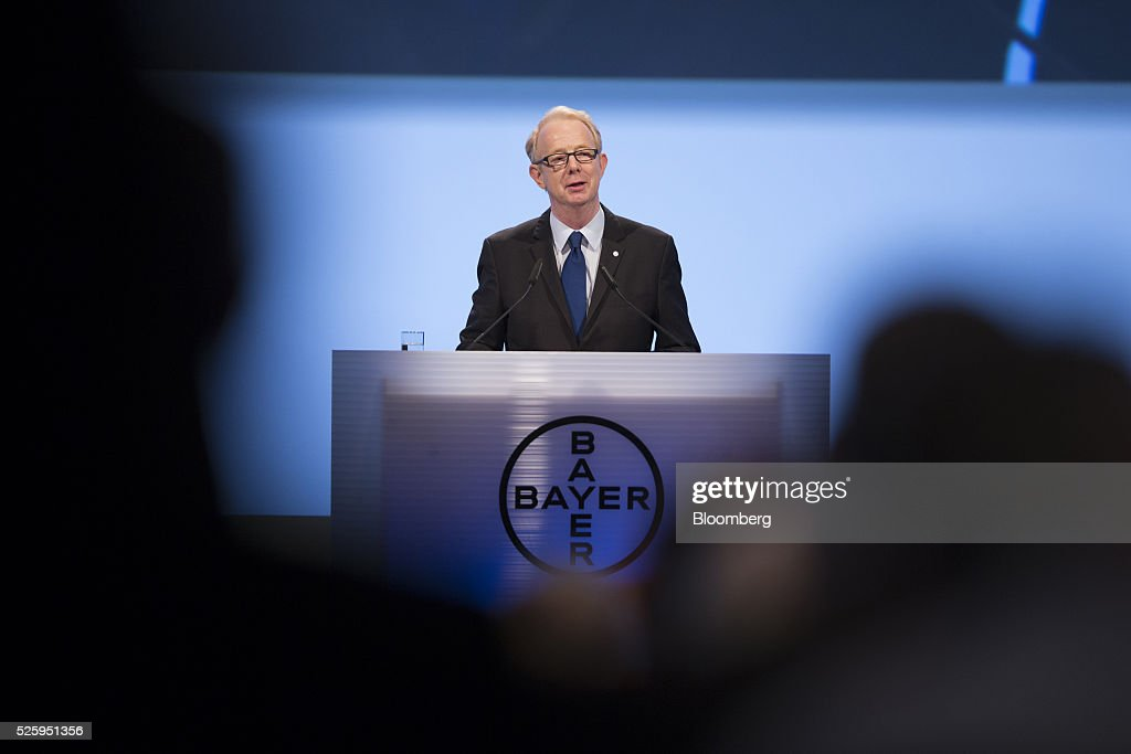 Marijn Dekkers, outgoing chief executive officer of Bayer AG, speaks during the drugmaker's annual general meeting in Cologne, Germany, on Friday, April 29, 2016. Bayer, Germany's largest company, reported first-quarter profit that beat analysts' estimates as top-selling drugs Xarelto and Eylea continued to soar. Photographer: Jasper Juinen/Bloomberg via Getty Images