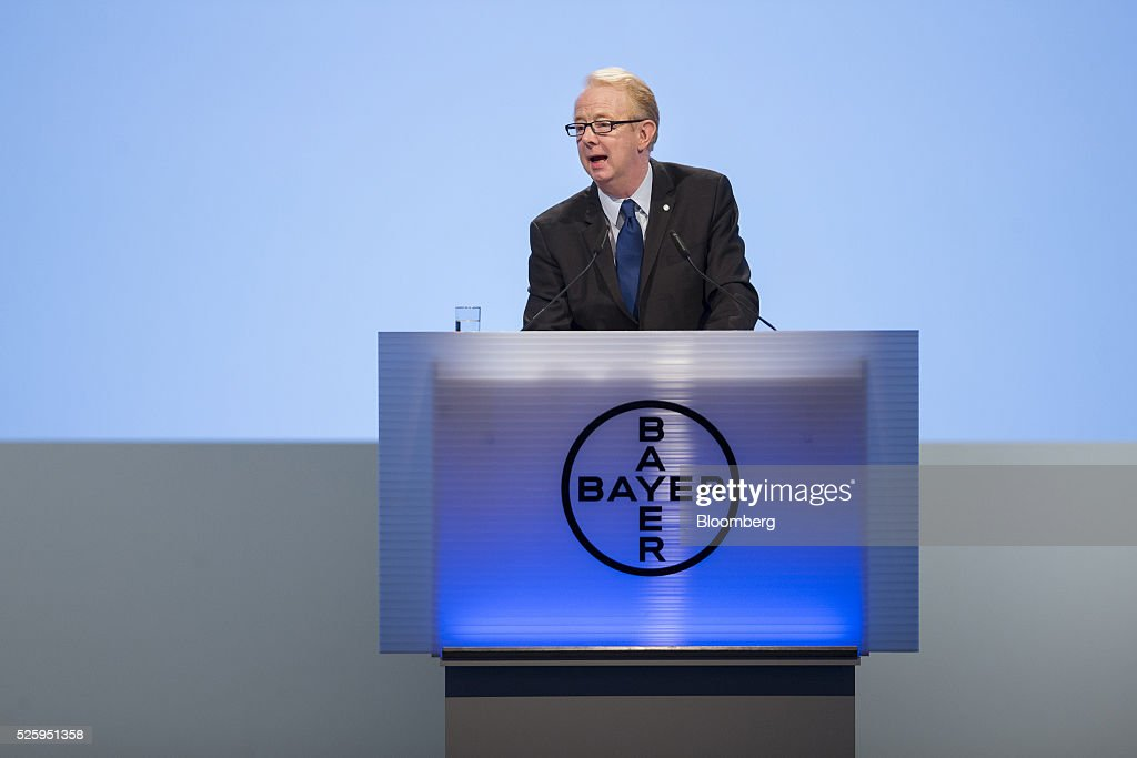 Marijn Dekkers, outgoing chief executive officer of Bayer AG, speaks during the drugmaker's annual general meeting in Cologne, Germany, on Friday, April 29, 2016. Bayer, Germany's largest company, reported first-quarter profit that beat analysts' estimates as top-selling drugs Xarelto and Eylea continued to soar. Photographer: Martin Leissl/Bloomberg via Getty Images