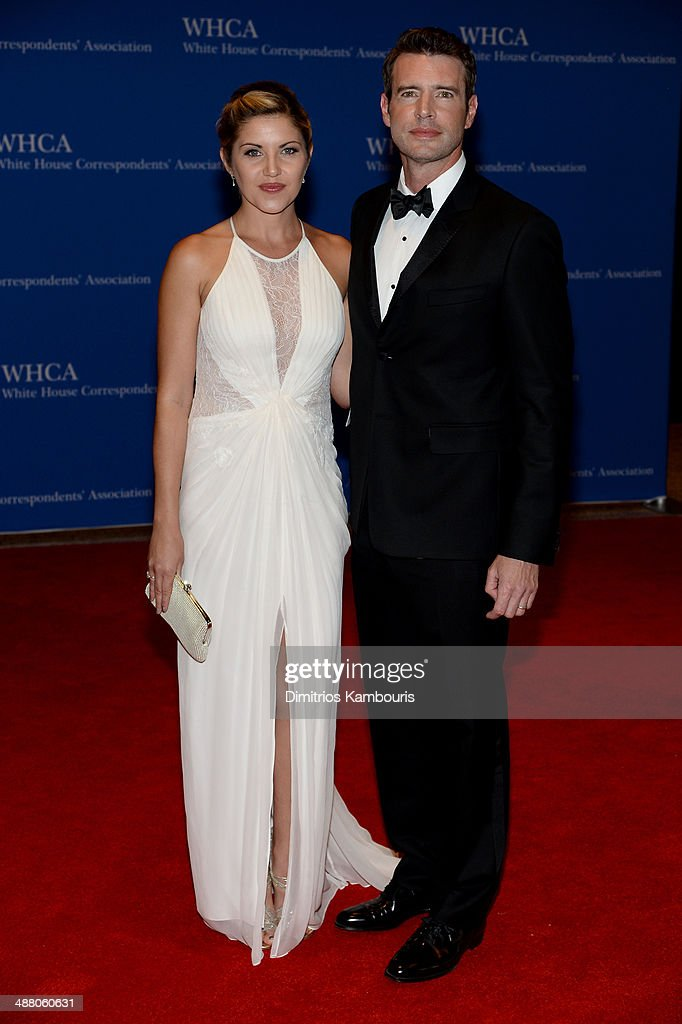 Marika Dominczyk and Scott Foley attend the 100th Annual White House Correspondents' Association Dinner at the Washington Hilton on May 3 2014 in...