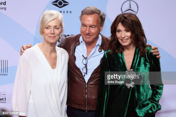 Marika George Nico Hofmann and Iris Berben attend the 'First Steps Awards 2017' at Stage Theater on September 18 2017 in Berlin Germany