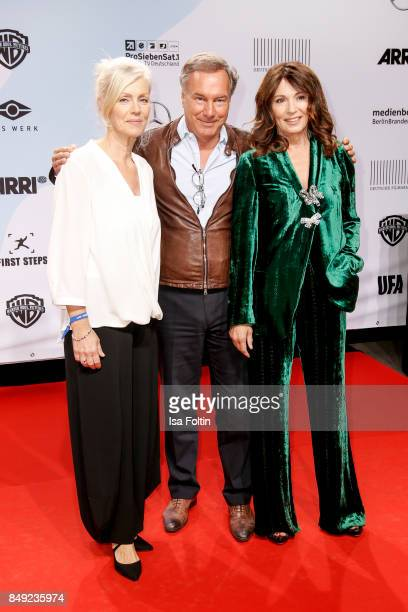 Marika George Nico Hofmann CEO UFA and German actress Iris Berben attend the First Steps Awards 2017 at Stage Theater on September 18 2017 in Berlin...