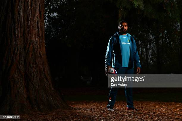 Marika Koroibete of Australia poses for a portrait prior to a training session at the Lensbury Hotel on November 14 2017 in London England
