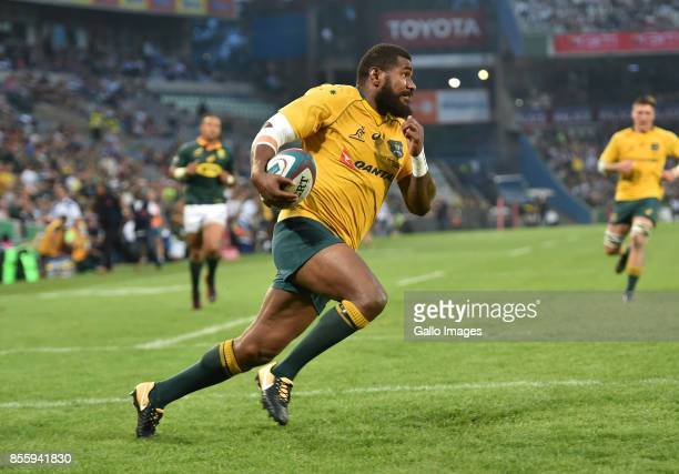 Marika Koroibete of the Wallabies during the Rugby Championship 2017 match between South Africa and Australia at Toyota Stadium on September 30 2017...