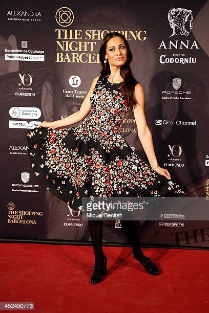 Marika Pellegrinelli poses during a photocall for the '4th TheShopping Night Barcelona 2013' held at the El Palau Robert on November 28 2013 in...