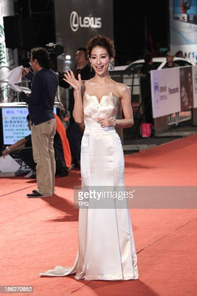 Mariko Okubo attends the red carpet of the 48th Golden Bell Award on Friday October 252013 in TaipeiChina