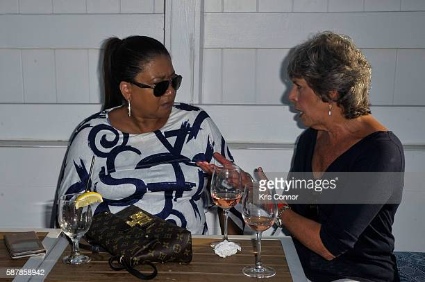 Mariko Pichardo and Gayle Lopata attend the 'Hamptons Magazine and Mortgage Professionals Enjoy Sunset Cocktails at Dockers ' event at Dockers...