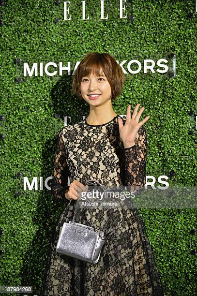 Mariko Shinoda attends 'Michael Kors and Miranda Kerr Celebrate Elle Japon December Cover' party at the Gallery of Horyuji Treasures of the Tokyo...