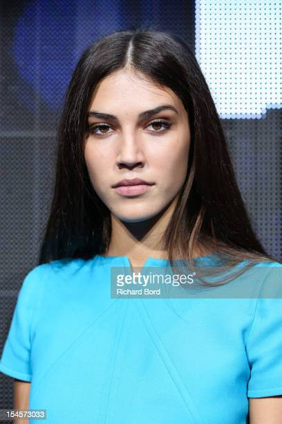 Marilhea Peillard poses as she just wins the Elite Model Look France Final at Le Carrousel du Louvre on October 22 2012 in Paris France