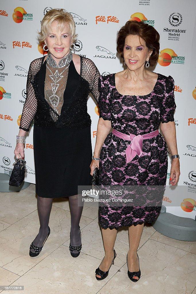 Marili Coll and Maria Rosa attend 'Orange And Lemon' Awards ceremony at Sheraton Mirasierra Hotel on April 29, 2013 in Madrid, Spain.
