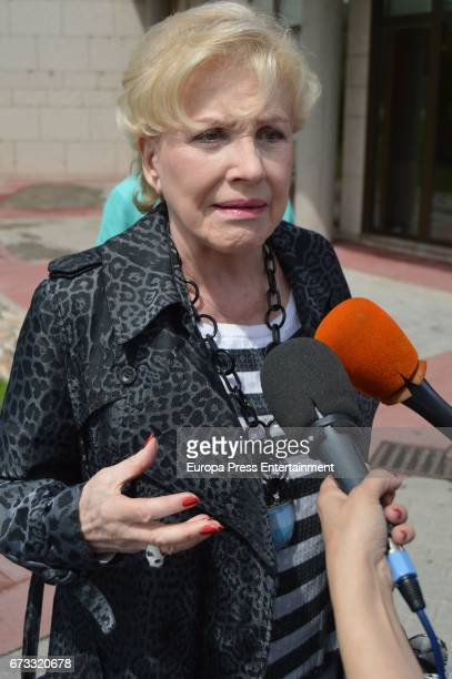 Marili Coll attends the funeral chapel for the bullfighter Sebastian Palomo Linares on April 25 2017 in Madrid Spain