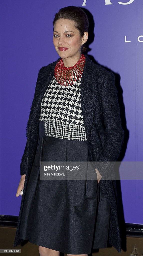 Marillon Cotillard attends the The EE British Academy Film Awards Nominees Party at Asprey on February 9, 2013 in London, England.