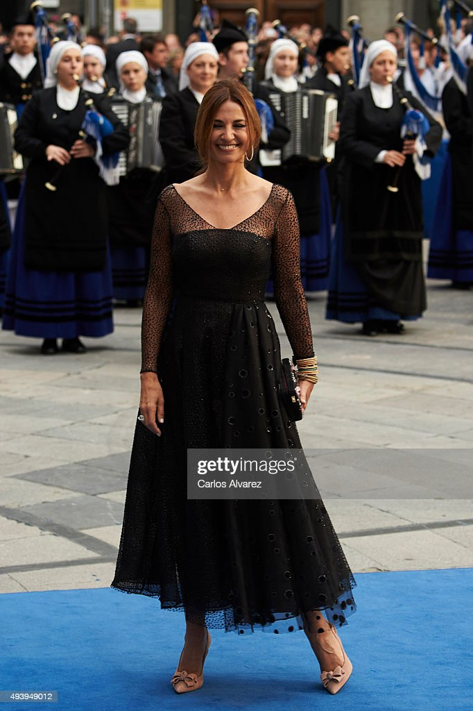 Marilo Montero arrives to the Campoamor Theater for the Princess of Asturias Award 2015 ceremony on October 23 2015 in Oviedo Spain