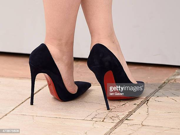 Marilou Berry shoe detail attends the 'Inside Out' Photocall during the 68th annual Cannes Film Festival on May 18 2015 in Cannes France