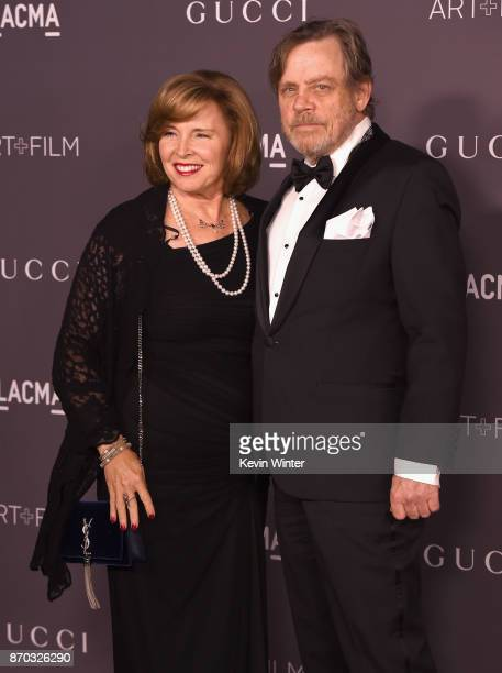 Marilou York and actor Mark Hamill attend the 2017 LACMA Art Film Gala Honoring Mark Bradford And George Lucas at LACMA on November 4 2017 in Los...