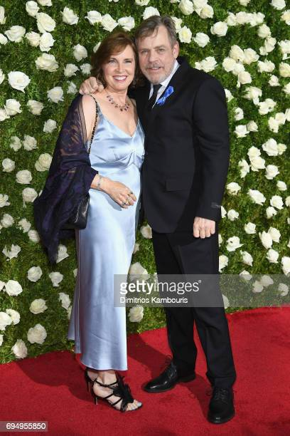 Marilou York and actor Mark Hamill attend the 2017 Tony Awards at Radio City Music Hall on June 11 2017 in New York City