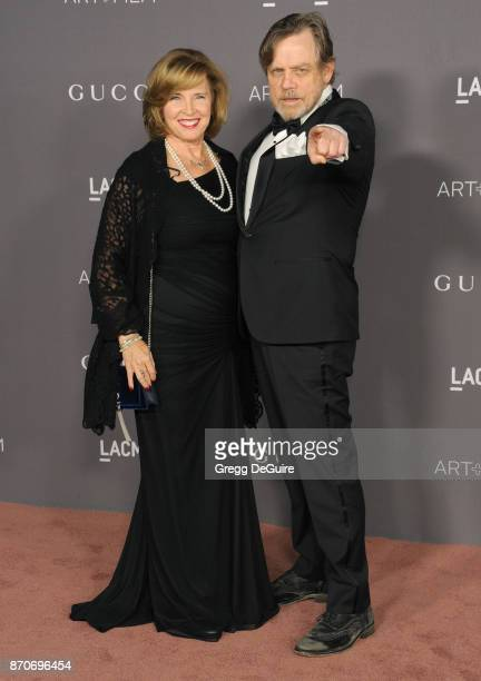 Marilou York and Mark Hamill arrive at the 2017 LACMA Art Film Gala honoring Mark Bradford and George Lucas at LACMA on November 4 2017 in Los...